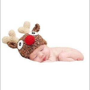Brand New Knit Deer Baby Photo Prop Costume